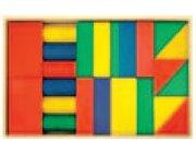 Set Holzkasten: Inhalt 30 Teile, Buche farbig gebeizt