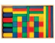 Set Holzkasten: Inhalt 44 Teile, Buche farbig gebeizt