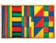 Set Holzkasten: Inhalt 42 Teile, Buche farbig gebeizt