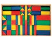 Set Holzkasten: Inhalt 62 Teile, Buche farbig gebeizt
