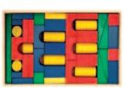Set Holzkasten: Inhalt 46 Teile, Buche farbig gebeizt