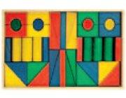 Set Holzkasten: Inhalt 40 Teile, Buche farbig gebeizt