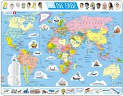 Larsen Lernpuzzle Erde Weltkarte (politisch)