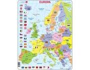 Larsen Lernpuzzle Europa und Flaggen (politisch)