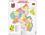 Larsen Lernpuzzle Puzzle Bundesland Rheinland-Pfalz (politisch)