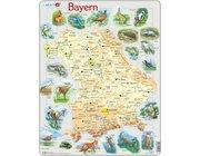 Larsen Lernpuzzle Bundesland Bayern (physisch mit Tieren)
