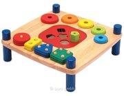 Kinder-Formenbank, Lernspielzeug aus Holz, ab 19 Monate