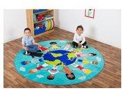 Kinder der Welt - Teppich mit 2 Meter Durchmesser