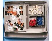 Materialschachtel aus Graukarton, 345 x 250 x 60 mm