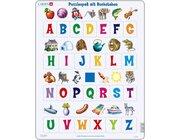 Larsen Lernpuzzle Deutsch ABC mit Bild (große Buchstaben)