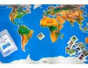 Spielteppich Landschaften der Erde mit 36 Tierkarten