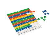 Lineares Bruchrechen-Set für Schüler, mit Magnetafel, 4.-6. Klasse