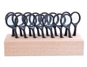 Lupenständer aus Holz, groß
