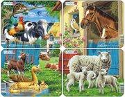 Larsen Lernpuzzle Tiere auf dem Bauernhof