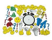 Magnetische Emoticons und Diskussionssymbole, ab 9 Jahren