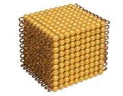 Goldkubus 10x10x10 goldene Perlen, lose Perlen Kunststoff