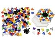 Prismo Kreisel 192 Dreiecke inkl. 24 Glitzer-Prismo mit Kreiselrahmen 2er-Set durchgefärbt