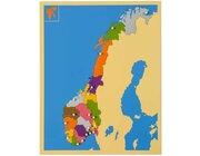 Puzzlekarte Norwegen