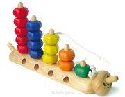 Steck- und Fädelraupe, Holzspielzeug, ab 18 Monate