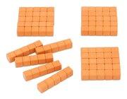 Dienes Fünferstangen 20 Systemblöcke Matinko aus ReWOOD® orange