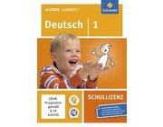 Alfons Lernwelt Deutsch 1 Schullizenz, CD-ROM