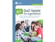 40 DaZ - Spiele für Jugendliche, Buch inkl. CD, 5.-13. Klasse
