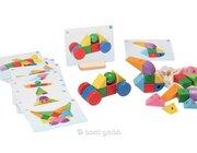 Konstruktionsspiel Magnetic Blocks, 33 Holzbausteine, ab 3 Jahre