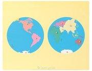 Montessori Puzzlekarte Erdteile inkl. 3 Arbeitskarten