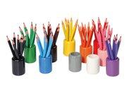 Set mit 11 farbigen Stiftehaltern (leer), ab 2 Jahre
