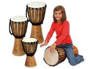 Djembe Mahagoni, geölt 30 cm hoch, Percussioninstrument, ab 3 Jahre