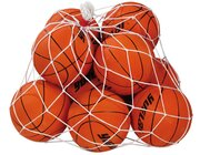 Basketballset Junior, 10 Stück im Ballnetz, 5-11 Jahre