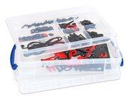 Haft-Notensatz schwarz/rot in Transportbox, magnetisches Tafelmaterial, ab 4 Jahre