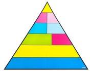 Lebensmittelpyramide für die Tafel, magnetisches Tafelmaterial, 8-18 Jahre