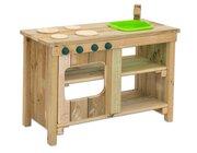 Outdoor-Kiga-Küche mit grünem Spülbecken, 3-8 Jahre