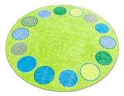 Riesen-Rundteppich - Dots mit 3 Metern Durchmesser
