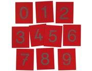 Sandpapierziffern auf Holztafeln, 10 Stück, 3-8 Jahre