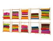 Set mit 10 kleinen Webrahmen, 16,5 x 22 cm, ab 3 Jahre