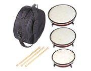 Trommel-Set bestehend aus 3 Trommeln, 3 Schlägeln und Tasche, ab 3 Jahre
