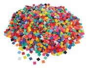 1 kg viereckige Mosaiksteine, Kunststoff, ab 3 Jahre