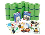 Yoga-Klassenset, 8 Gymnastikmatten, 2 Yoga-Kartensätze inkl. CD, ab 6 Jahre