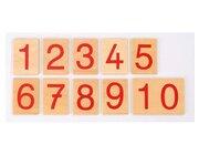 Zahlenkarten aus Holz, 4-7 Jahre