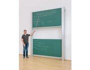 Pylonen-Doppeltafel, GS-geprüft, grün, 300x100 cm