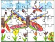 Blanko-Puzzle, 10 Stück, 3-99 Jahre
