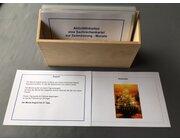 Aktivitätskarten zum Sachrechnen: Monate, laminierte Kartei im Holzkasten