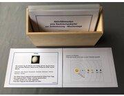 Aktivitätskarten zum Sachrechnen: Wochentage, laminierte Kartei im Holzkasten
