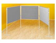 Komplett-Set A: Tafelreihe Profi-Stellwände, grau