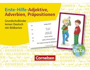 Erste-Hilfe-Adjektive, Adverbien, Präpositionen, Bildkarten, 1.-4. Klasse