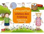 Emma und Paul erleben den Frühling. Spielfiguren für die Erzählschiene, 1 bis 5 Jahre
