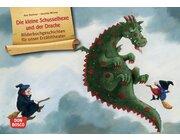 Kamishibai Bildkartenset - Die kleine Schusselhexe und der Drache, 3-8 Jahre