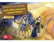 Kamishibai Bildkartenset - Josef, Maria und Jesus müssen fliehen, 3-8 Jahre